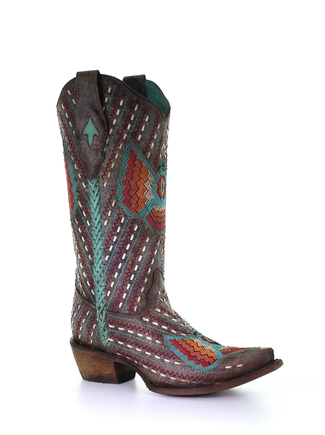 Full Embroidery and Woven Boot