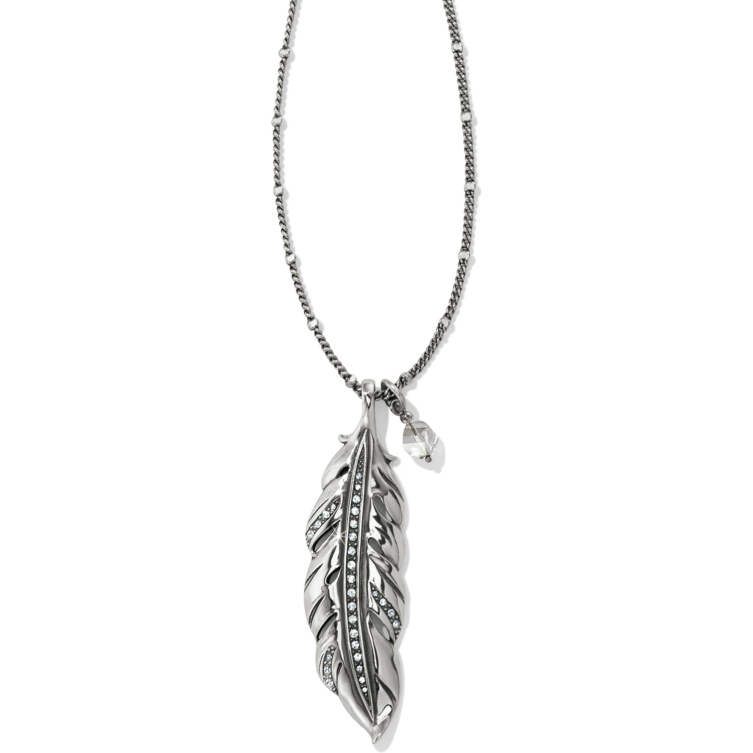 Contempo Ice Feather Convertible Necklace JL8561