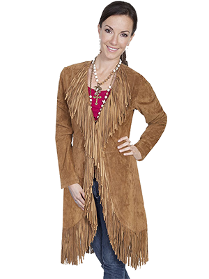 Scully - Suede Fringe Maxi Coat