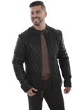 [Mens Scully Lamb Quilted Leather Jacket]