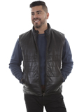 [Scully Mens Lamb Leather Reversible Vest]