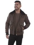 [Mens Scully Vintage Calf Leather Eagle Jacket]