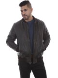 [Mens Scully Sanded Calf Vintage Leather Jacket]