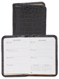 [Scully Crocodile Embossed Leather Personal Weekly Planner]