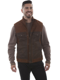 [Scully Mens Lamb Suede Two Tone Vest]