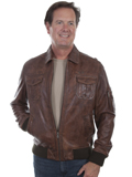 [Mens Scully Premium Featherlite Lamb Bomber Jacket]