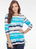 [FDJ French Dressing� Watercolor Stripe Top]