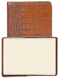 [Scully Crocodile Embossed Desk Size Journal]