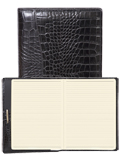 [Scully Crocodile Embossed Leather Ruled Journal]
