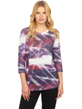 [FDJ French Dressing� Women's Northern Lights Print Top]
