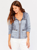 [XCVI� Clothing Reservoir Stretch Poplin Jacket]