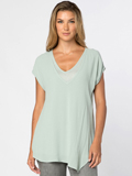 [XCVI� Clothing Women's Mindy Double Layer Rayon Top]