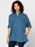 [XCVI� Clothing Women's Ashlie Button Down Cotton Viole Shirt]