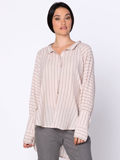 [XCVI� Clothing Ester Stripe Gauze Blouse]