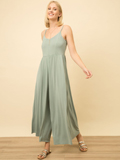 [Mystree Sand Wash Modal Wide Leg Jumpsuit]