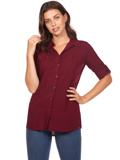 [FDJ French Dressing� Women's Painterly Stripe Roll-Up Sleeve Blouse]