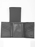 [ Scully Buttercalf Leather Tri-Fold]