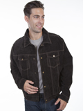 [Mens Scully Men's Frontier Leather Jean Jacket]