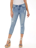 [ FDJ French Dressing� Olivia Roll Up Mid-Rise Crop Jeans]
