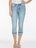 [ FDJ French Dressing® Olivia Embroidered Hem Crop Jeans]