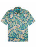 [Tori Richard� Men's Henna Leaves Relaxed Cotton Lawn Shirt]