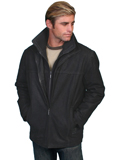 [Mens Scully Men's Vintage Leather Jacket with Knit Zip Out Front and Collar]