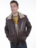 [Mens Scully Men's Rugged Lamb Jacket with Removable Faux Shearling Collar]