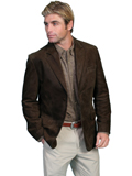 [Scully Mens Men's Frontier Boar Suede Leather Blazer]