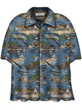[David Carey, Inc. Men's CA Central Coast Camp Shirt]