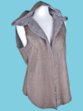 [True Grit Women's Distressed Suede Hooded Reversible Vest]