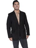 [Scully Mens Men's Boar Suede Leather Western Blazer]