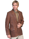 [Scully Mens Men's Distressed French Lamb Leather Western Blazer]