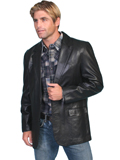 [Mens Scully - Men's Hand Finished Lamb Leather Western Blazer]