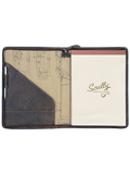 [Scully Aerosquadron Antique Lamb Leather Zip Letter Pad]