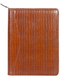 [Scully Lizard Embossed Leather Zip Letter Pad]