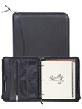 [Scully Soft Plonge Leather 3 Ring Zip Weekly Planner Binder Organizer ]