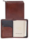[Scully Italian Leather Zip Weekly Planner]