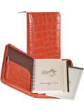 [Scully Large Crocodile Embossed Zip Weekly Planner]