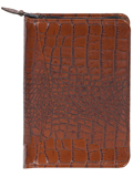 [Scully Crocodile Embossed Zip Weekly Planner]