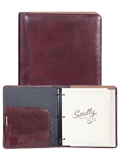 [Scully Italian Leather 3 Ring Monthly Planner Organizer]
