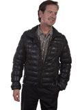 [Mens Scully Ribbed Lamb Leather Jacket]
