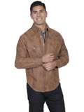 [Scully Mens Men's Frontier Leather Shirt]