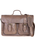 [Scully Aerosquadron Antique Lamb Workbag]