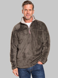 [True Grit� Men's Double Plush 1/2 Zip Pullover Sweater]