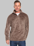 [True Grit� Men's Luxe Fleece Stripe 1/2 Zip Pullover Sweater]