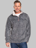 [True Grit� Men's Frosty Cord Pile 1/4 Zip Pullover Sweater]