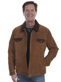 [Mens Scully Boar Suede Two Tone Concealed Carry Jacket]