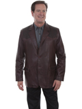 [Mens Scully Men's Lambskin Blazer with Ostrich Trim]