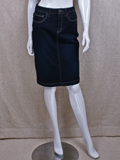 [ FDJ French Dressing� Cool Denim Mid-Rise Pencil Skirt]