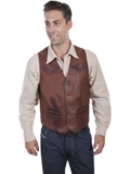 [Scully Mens Lamb Leather Vest]